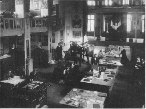 Kunstdrukschool Sint-Lucas, Parnassus, 26 februari 1929 (Foto archief Erik Dekeyser).