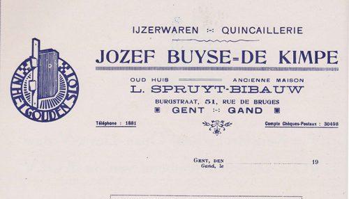 Briefhoofd voor de firma Buyse-De Kimpe in: Grafiek, no. 20 (1946).