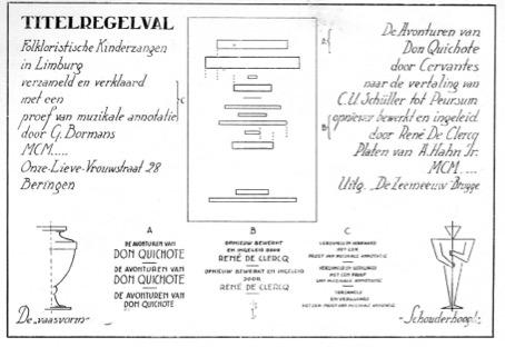 Jan Peeters (broeder Zephirijn), ''Zet-formules'', Grafiek, no. 8 (1939).