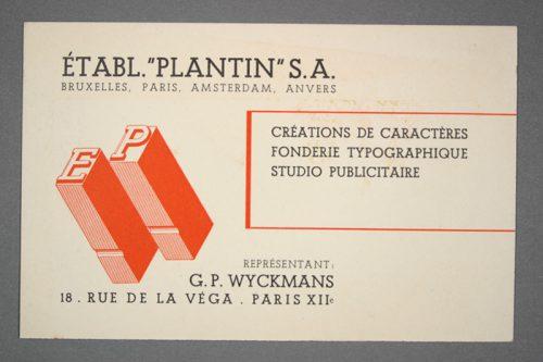 Ontwerpen van Jos Léonard voor Etablissementen Plantin.