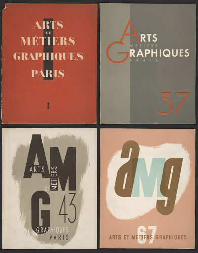 Examples of different cover styles used for AMG throughout the years. AMG 1 (September 1927), AMG 37 (September 1933), AMG 43 (October 1934), AMG 67 (March 1939).
