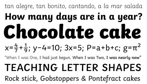 Figure 10. Twinkl Sans. TypeTogether, Twinkl specimen.