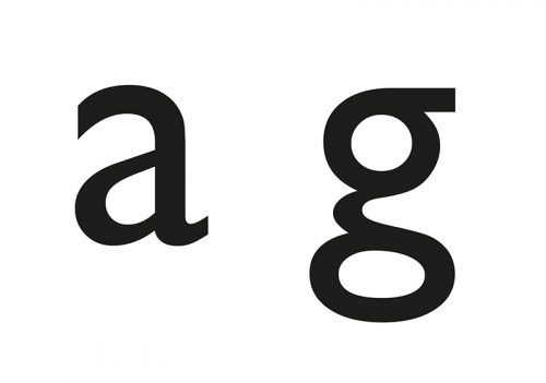 Figure 5. Double storied 'a' and 'g'.