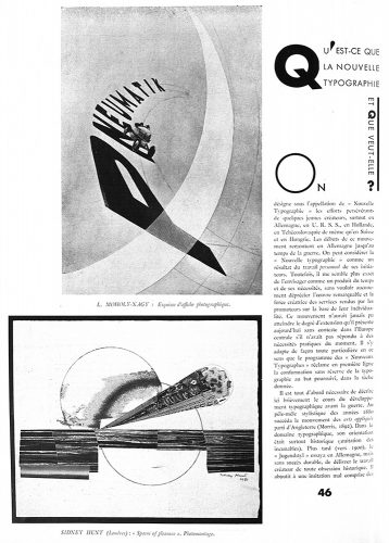 Article on New Typography by Jan Tschichold in AMG 19 (September 1930).
