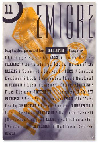 Emigre #11 cover designed by Rudy VanderLans, 1989.